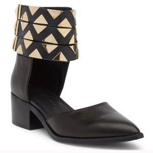 NWB e8 by Miista Black Geometric Shoes
